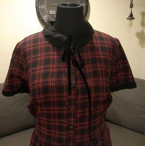 ModCloth Flannel Plaid Dress